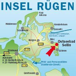 Ostsee Karte Rügen.Ferienwohnung Ruegen Fewo Anreise